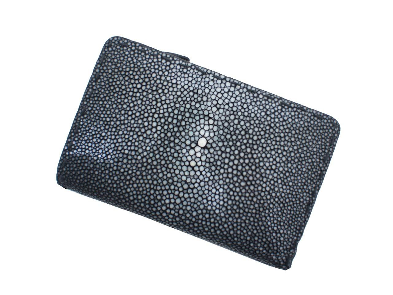 L.E.D.BITES RAY エルイーディーバイツ スティングレイ(エイ革) メンズ財布 二つ折り財布(ラウンドファスナー小銭入れあり) B-2342