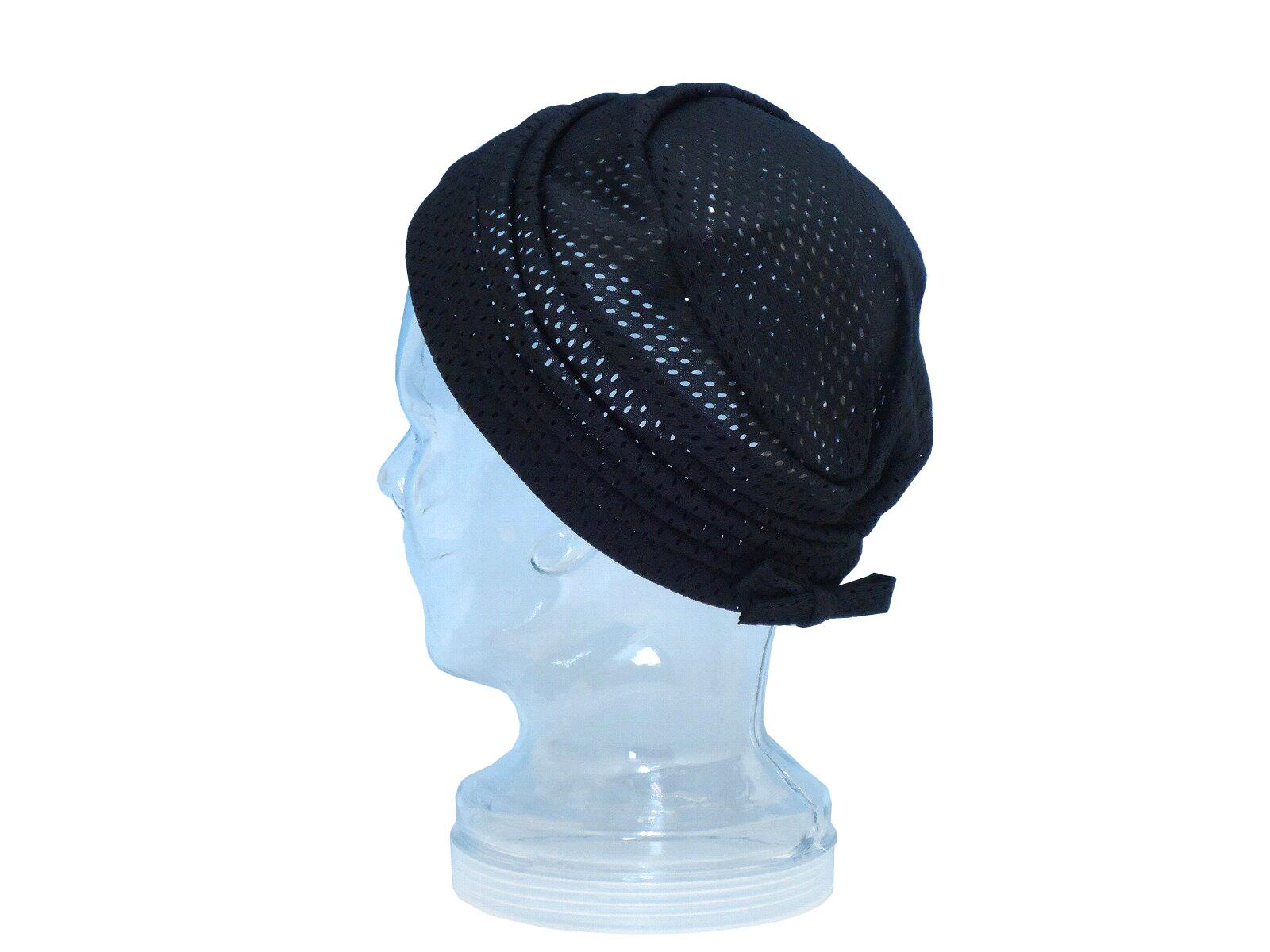 MADE IN JAPAN(日本製) 婦人帽子 パンチメッシュ ヘアキャップ ターバン 1833
