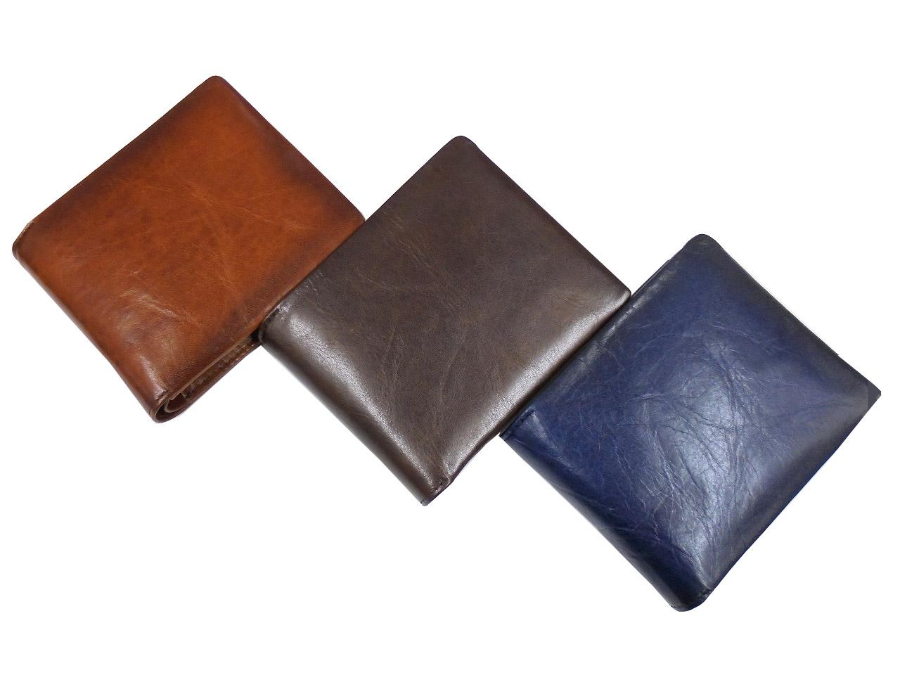 青木鞄 GALLERIA Arrosto ガレリア・アロースト メンズ 二つ折り財布 2971 AOKI