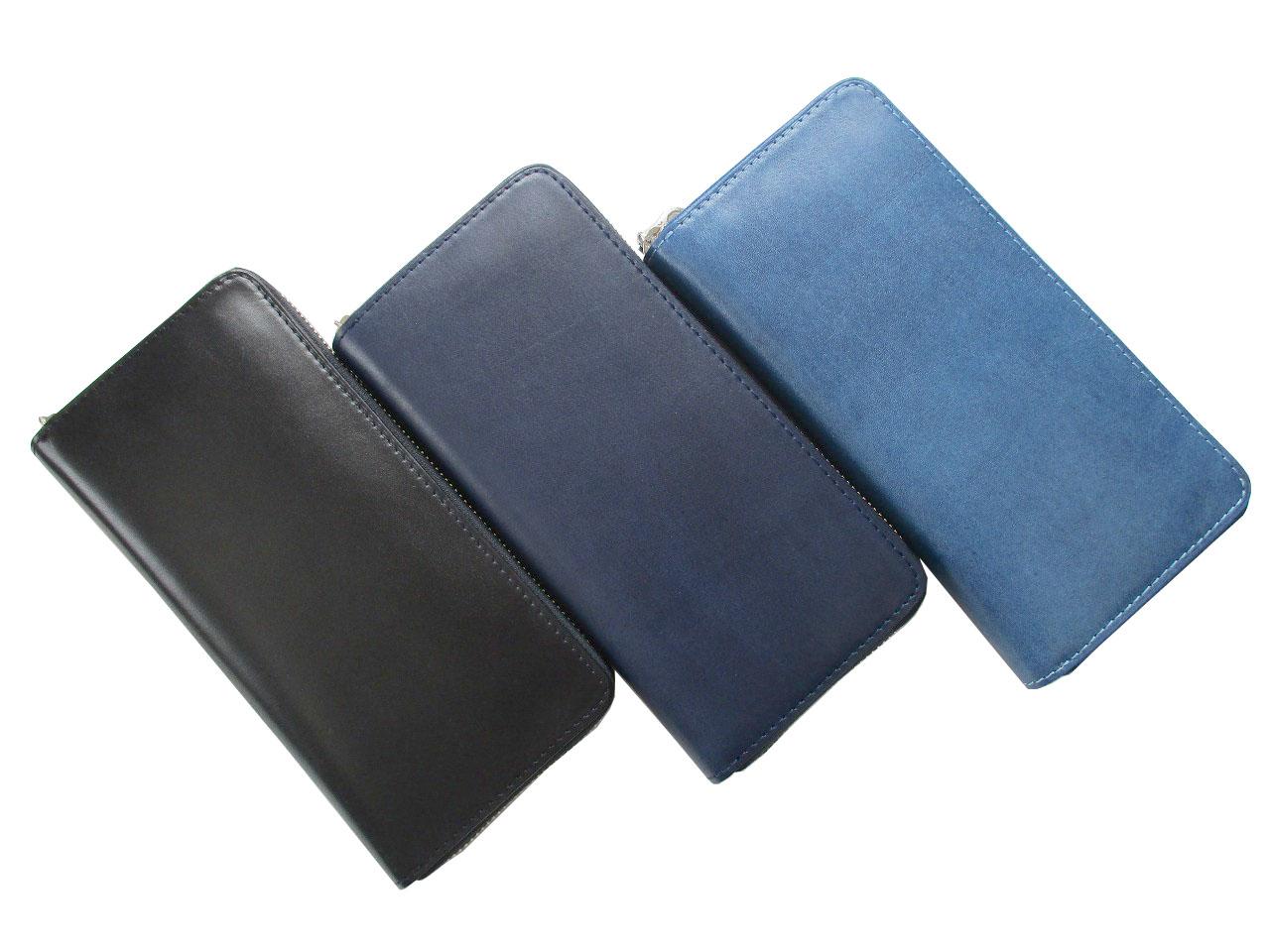 BAGGY PORT バギーポート 藍染 WALLET ラウンドファスナー長財布(束入れ) ZYS-097