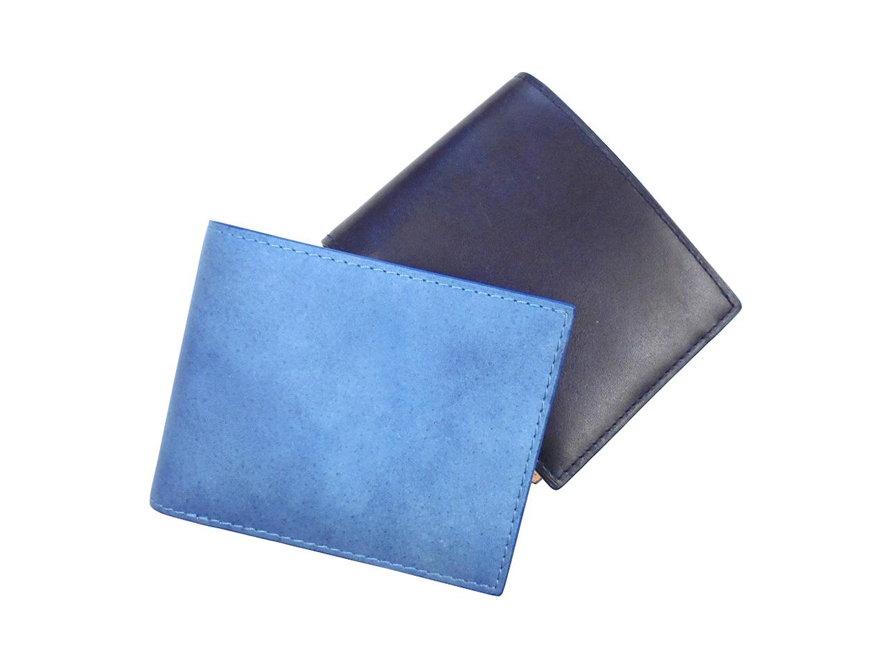 BAGGY PORT バギーポート KOI インディゴ DYE スムース 藍染 WALLET 二つ折り財布 札入れ BOX型小銭入れ ZYS-098