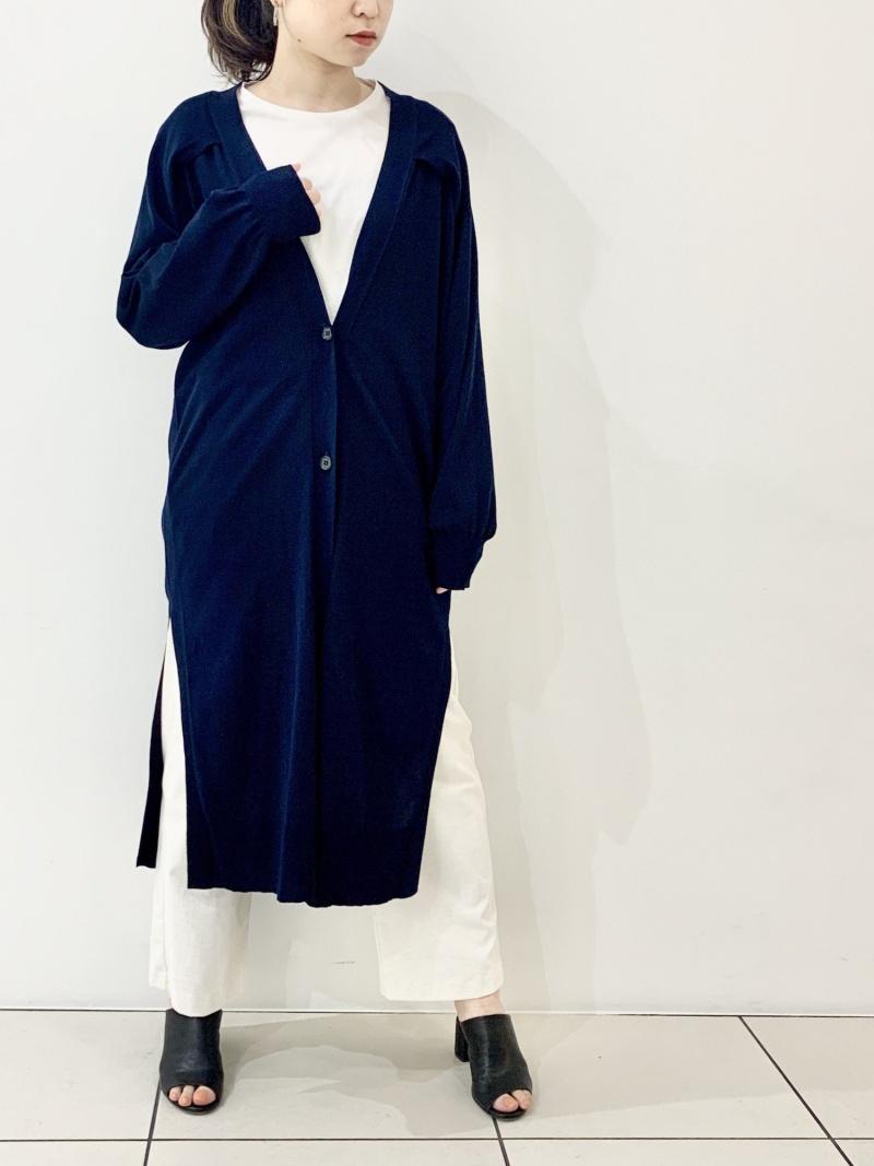 [ Fashion]J.C.M(ジェイシーエム)2WAYカーディガン B'2nd ビーセカンド ニット カーディガン ネイビー【送料無料】