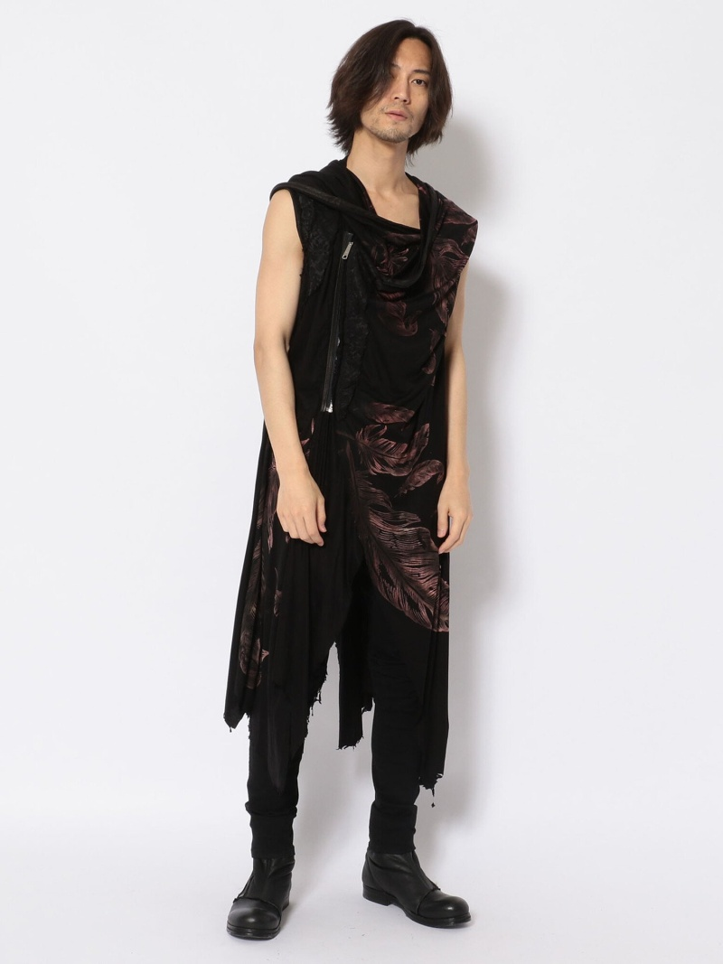 [ Fashion]TT/ティーティー/FeatherCardi ROYAL FLASH ロイヤルフラッシュ ニット カーディガン ブラック【送料無料】