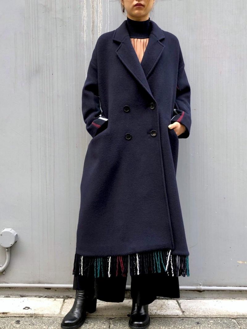 人気激安 [Rakuten Fashion]EZUMi(エズミ)バックストライプフリンジロングコート B'2nd ネイビー【送料無料】 ビーセカンド コート/ジャケット コート B'2nd コート/ジャケットその他/ジャケットその他 ネイビー【送料無料】, やまぼうし:4bf8501b --- experiencesar.com.ar