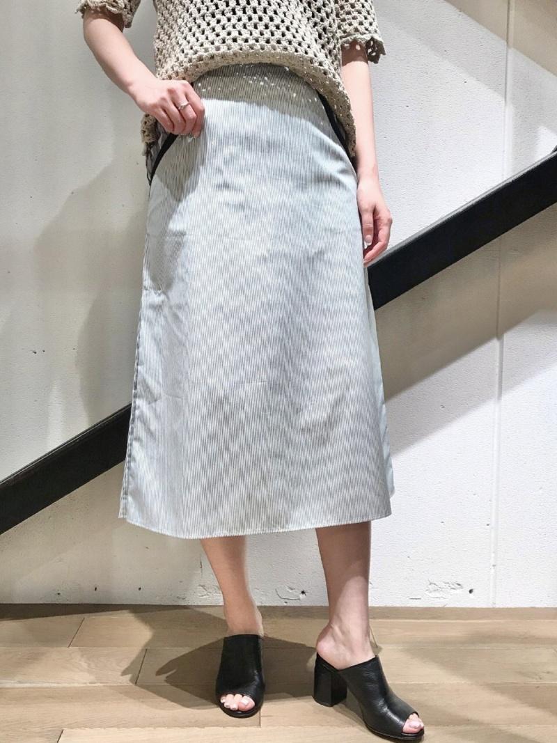 大流行中! [Rakuten Fashion]AKANEUTSUNOMIYA(アカネウツノミヤ)コットンストライプスカート [Rakuten B'2nd ビーセカンド ビーセカンド スカート ロングスカート ホワイト ロングスカート【送料無料】, 佐伯市:a39cb3fc --- bungsu.net