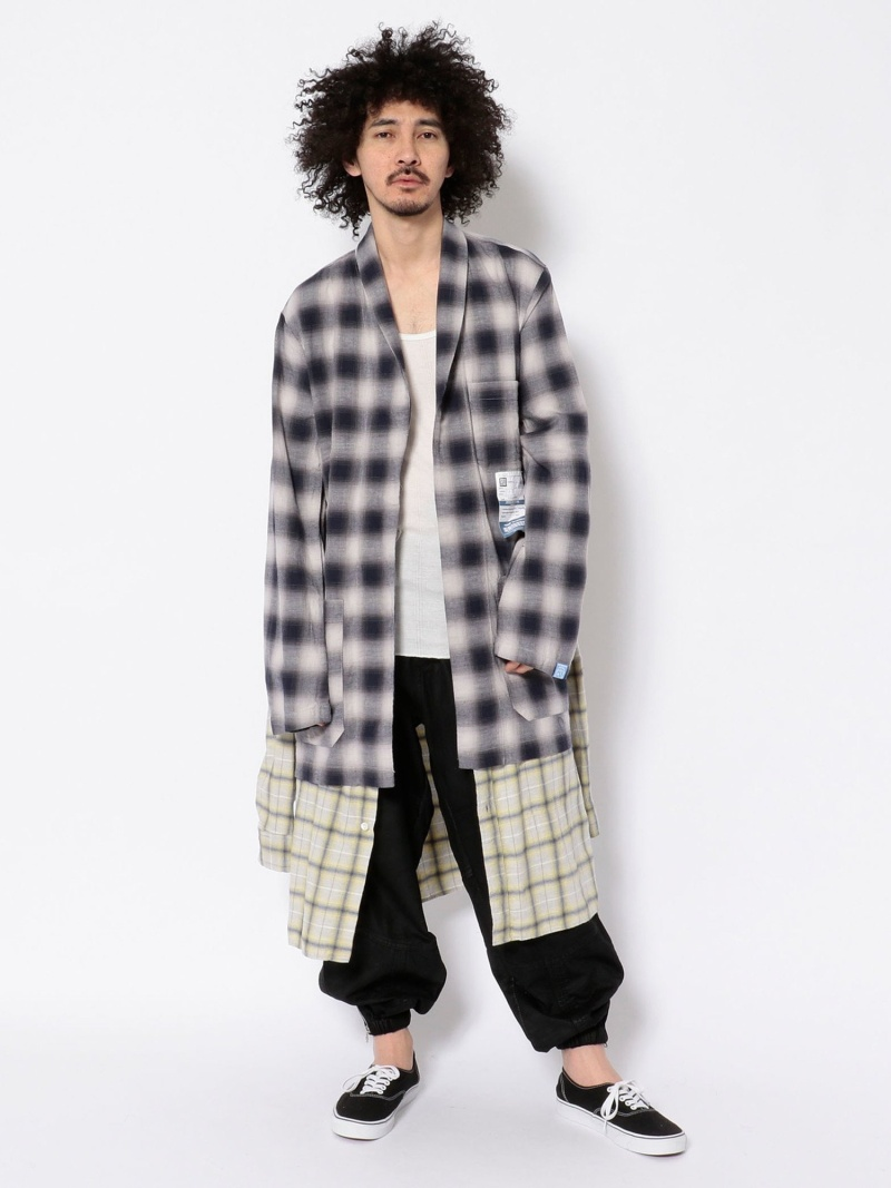 Fashion MaisonMIHARAYASUHIRO メゾンミハラヤスヒロ ダブルシャツコート ROYAL FLASH ロイヤルフラッシュ コート ジャケット ブルゾン ブルー 送料無料D9YHW2EIe