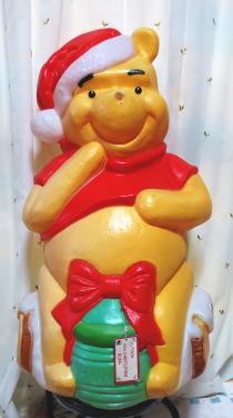 【訳あり】クリスマスディスプレイ★大きなくまのプーさんPOOH