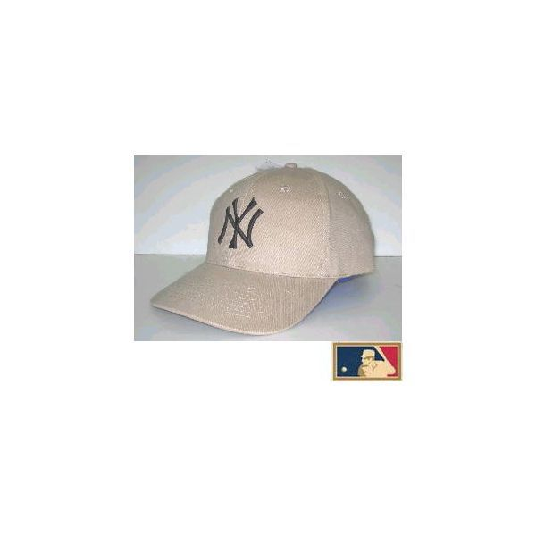 MLB measure 3D cap DX ★ New York Yankees ★ beige (cloth thickness type)