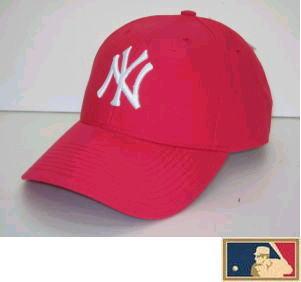 MLB メジャー3DキャップDX おトク ニューヨーク ヤンキース 朱色 迅速な対応で商品をお届け致します アメリカンレッド
