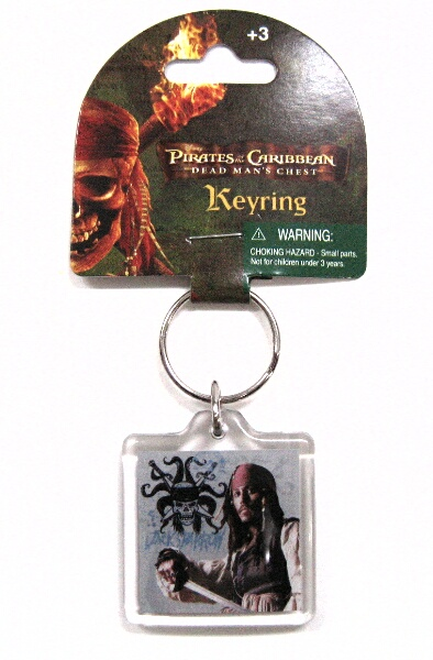 Monogram Pirates of the Caribbean 2 dead man's chest Jack key chain
