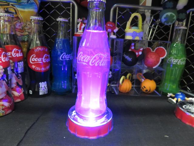 Hand アイテム勢ぞろい madeです コカコーラ コカコーラグッズ ランキング総合1位 COKE ハンドメイド バースタイル LEDコースターセット カラーボトル コカコーラボトル ピンク