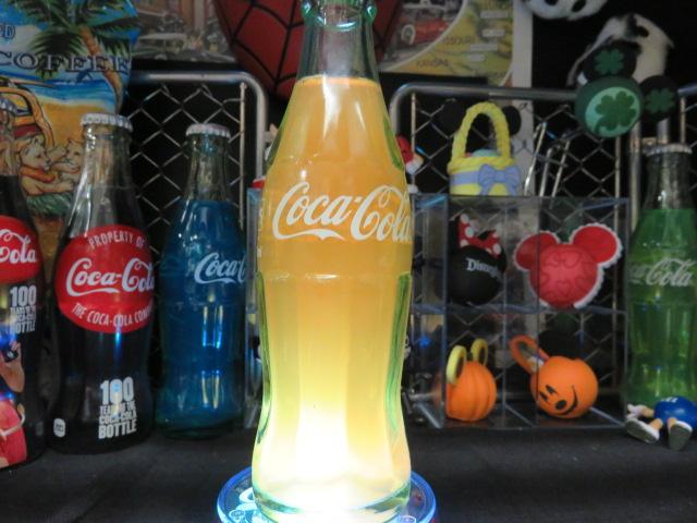 Hand 売れ筋ランキング madeです セール特価 コカコーラ コカコーラグッズ COKE ハンドメイド コカコーラボトル カラーボトル LEDコースターセット オレンジ バースタイル