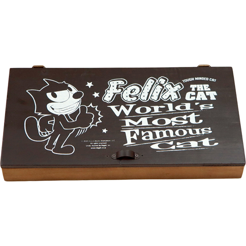ヴィンテージ加工の素敵なジュエリーBOXマルチBOXです 必見 購買 FELIX マルチボックス 正規取扱店 Wooden Multi フィリックス アクセサリーBOX Case ブラック ヴィンテージ加工