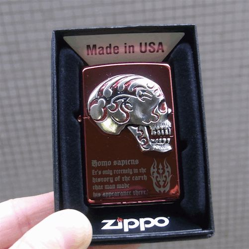 【zippo】【スカルグッズ】【ジッポー】【Made in USA】【レッド】【スカル】, L.A.Select P.C.H.:7cc49a77 --- officewill.xsrv.jp