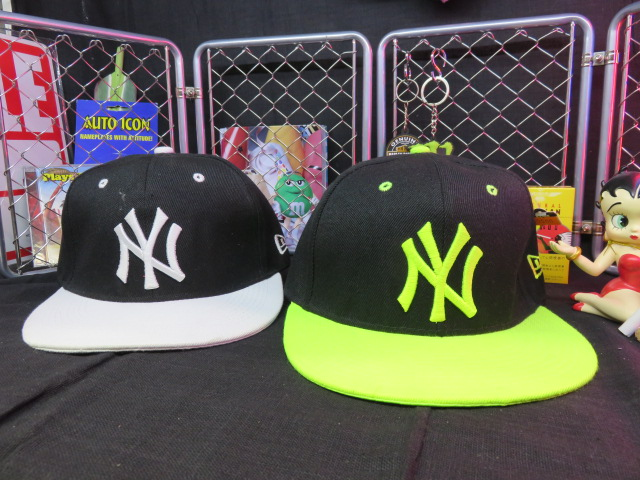 CAP AL完売しました フラットバイザータイプ ベースボールキャップ キャップ 2タイプ ネオングリーン ブラック 新品 ホワイト 送料全国一律500円