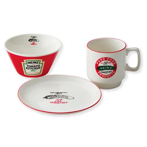 アメリカンな食卓に Heinz ハインツ ダイナーセット ケッチャップブランド ボウルの3点セット ハインツグッズ 公式サイト マグ 新作販売 プレート