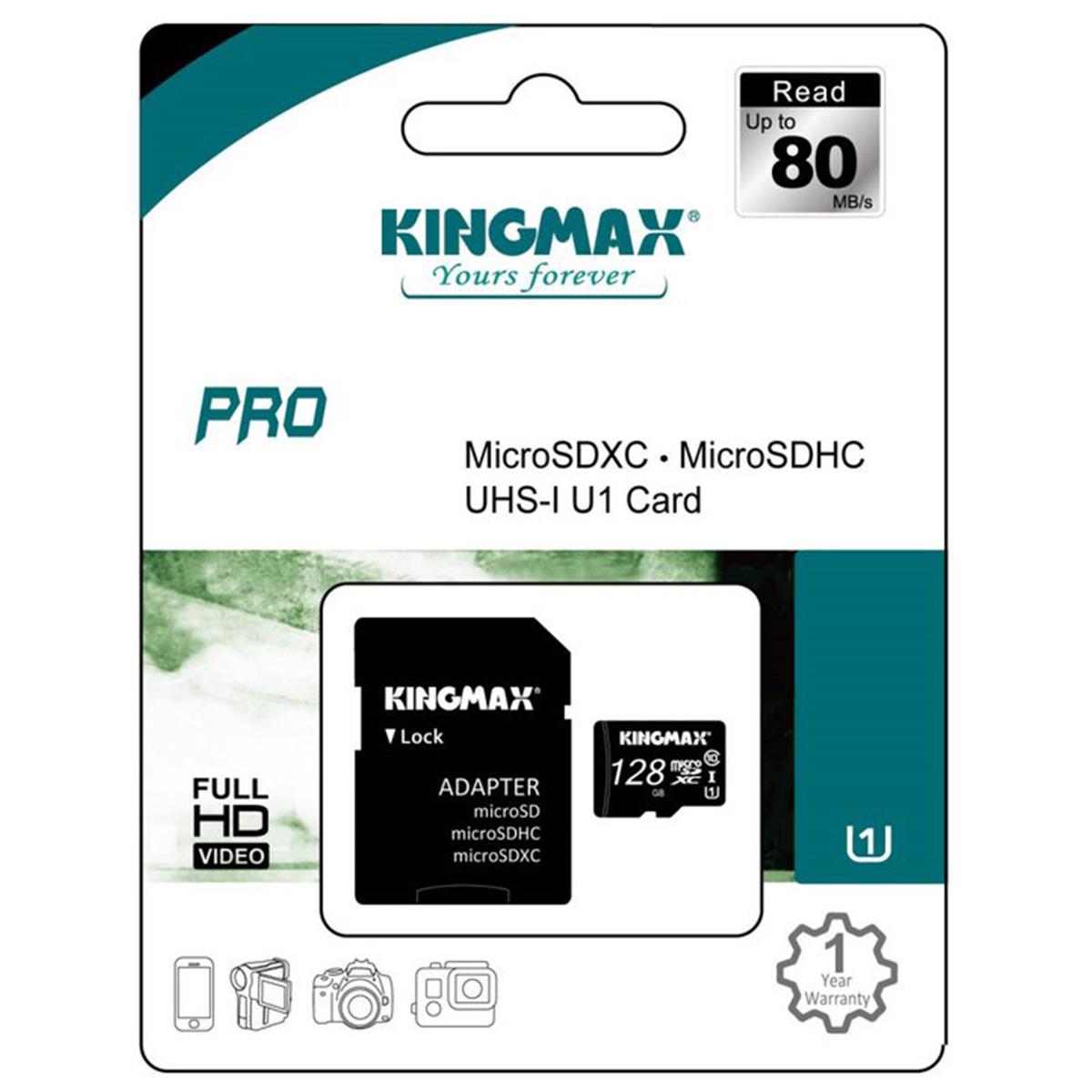 SDカード 128GB 贈答品 sdhc ご注文で当日配送 Class10 クラス10 KINGMAX microSDHCカード UHS-I 敬老の日 送料無料 対応 パソコン スマホ SD変換アダプター付属 タブレッドPC カメラ