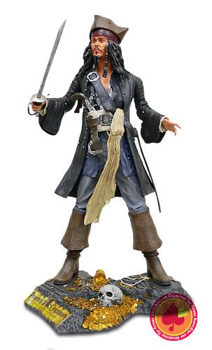 【送料無料】ジャックスパロウ スタチュー パイレーツオブカリビアン:Pirates of Caribbeanカリブの海賊【カード分割】