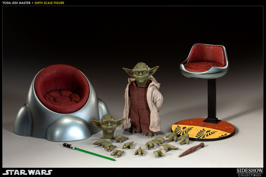 "旁邊表演公司製造""星球大戰""1/6 sukerufigyuayoda(jiedai·主人)/Star Wars-1/6 Scale Fully Poseable Figure: Order Of The Jedi - Yoda (Jedi Master)"