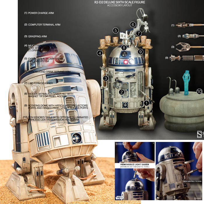 サイドショー社製『スターウォーズ』 1/6スケールフィギュア 【ヒーロー・オブ・レベリオン】 R2-D2 Star Wars - 1/6 Scale Fully Poseable Figure: Heroes Of The Rebellion - R2-D2