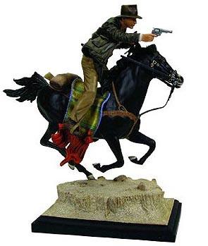 【送料無料】インディジョーンズ with ホース スタチュー ジェントルジャイアント社製/Indiana Jones - Statue: Indiana Jones On Horseback (The Last Crusade)【カード分割】