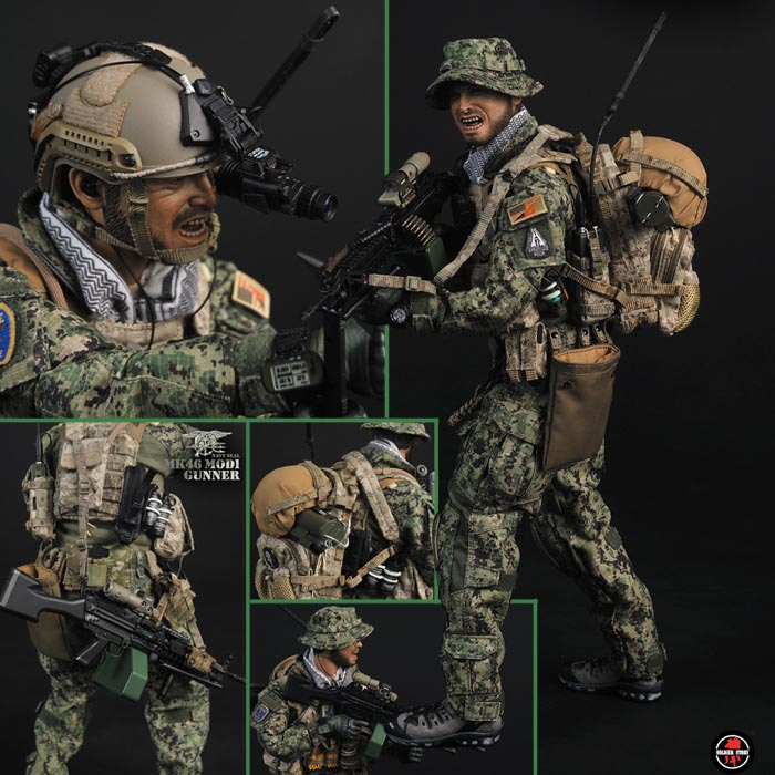 ソルジャー・ストーリー 1/6 アメリカ海軍 ネイビーシールズ MK46 MOD1ガンナー/Soldier Story【カード分割】