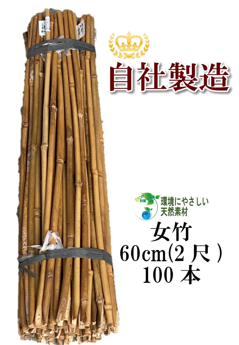 天然素材で環境にやさしい商品です 女竹は しなやかで粘り強く丈夫です 測量の際 杭が隠れてしまう時の目印や 農業用支柱としていかがですか チープ 天然竹 女竹 60cm100本 め竹 めだけ 竹支柱 目印 杭 農業支柱 添え木 セール特別価格 園芸支柱 土地家屋調査士用 篠竹 測量用 測量用品 しの竹