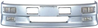 ハイブリッドバンパー4tワイド車用H430 W2400ハロゲンフォグランプ/下段LEDフォグランプ仕様