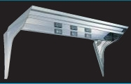 【UT-301A】 平型フロントバイザー 鏡面(BA)/オールウロコ アンドン無2t~大型