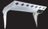 フロントバイザー【UT-302B】上段曲線菱ヌキ(蛍光灯付)天板鏡面BA(#400番程度)・横板#800鏡面速度灯無
