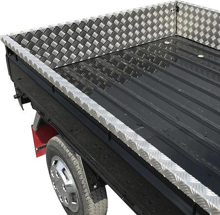 荷台アルミ縞板カバー三方セット(ロングタイプ)キャリーDA16T用