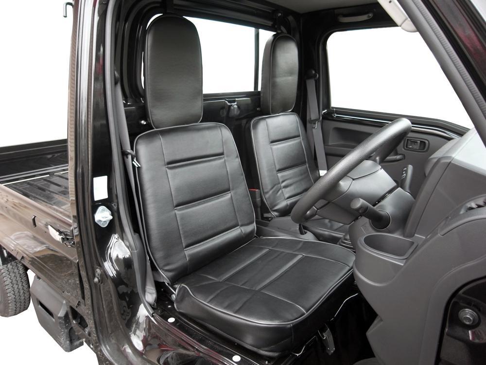 キャリーDA16T黒豹(ブラックパンサー)STDシートカバー【運転席/助手席セット】