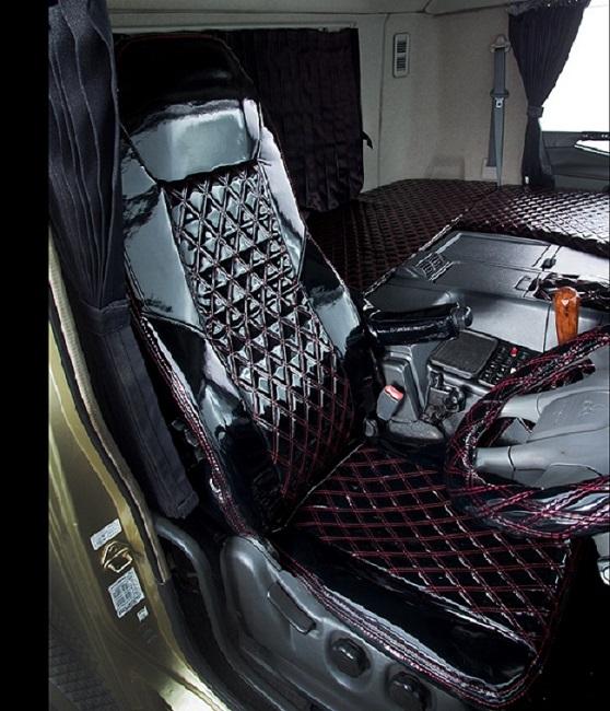 月光ZEROダブル シートカバー(シングルカラー)【運転席のみ】大型・4t・軽トラ