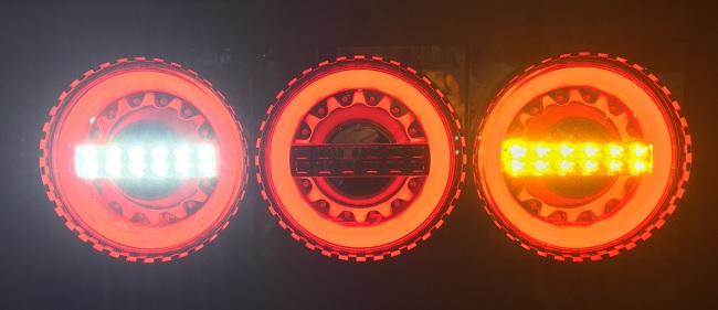 JB丸型LEDテールランプ3連バックランプ付