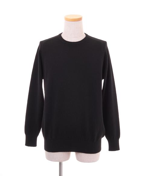 【送料無料 アウトレット】 メンズ クルーネック ラグランプルオーバー カラー:ブラック サイズ:L