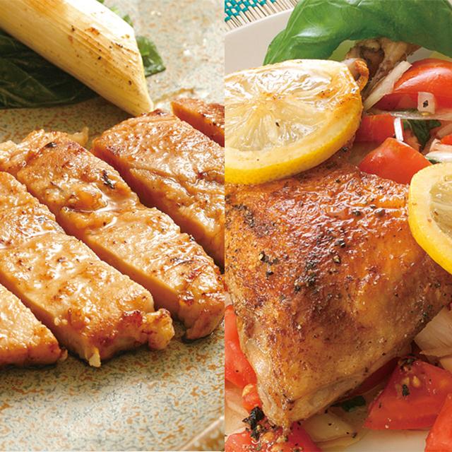 福島県産ハーブ鶏と豚肉をダブルで味わえるセット 送料込 新作送料無料 直営限定アウトレット 庄助ヘルシー會々セット ふくしまプライド 袋