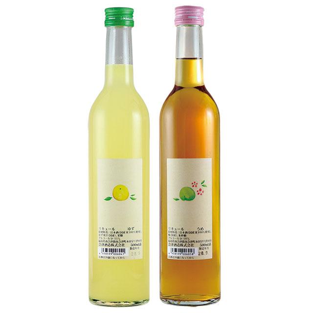 会津酒造が造る国産果実のフレッシュで甘酸っぱいお酒 激安通販ショッピング 送料込 会津酒造 ゆず酒 ふくしまプライド うめ酒セット 通販