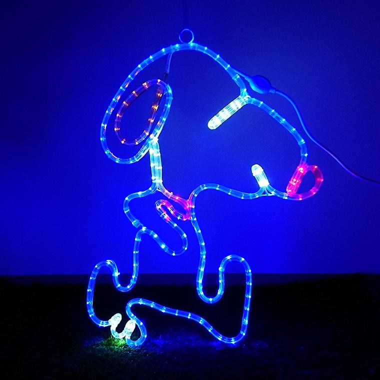 イルミネーション 屋外用 モチーフライト 子犬 63×50cm カラフル LED 防水 防雨 クリスマス イヌ 電飾 ライト 飾り付け 装飾 動物 アニマル 庭 ガーデン 玄関 エントランス 窓 壁面 フェンス 業務用 結婚式 かわいい