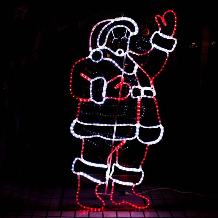 イルミネーション 屋外用 モチーフライト サンタクロース 大型 150×75cm カラフル LED 防水 防雨 クリスマス サンタさん 電飾 ライト 飾り付け 装飾 庭 ガーデン 玄関 エントランス 窓 壁面 フェンス 業務用 結婚式 かわいい