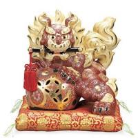 九谷焼 剣獅子 10号 盛 AP2-1786