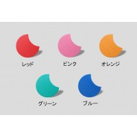たたみっふる おつきさま2色(各3枚)セット ピンク×グリーン