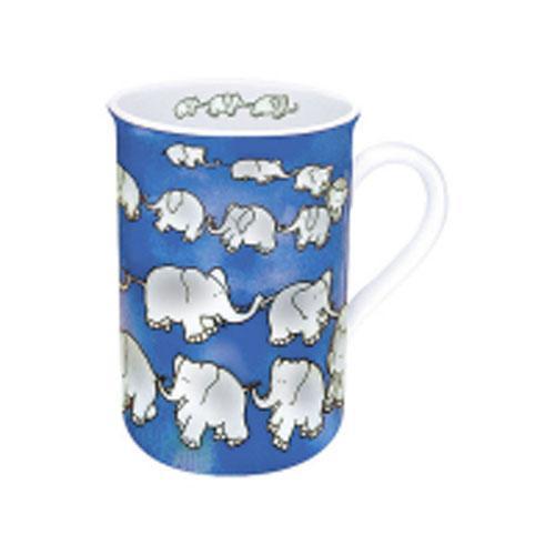 KONITZコーニッツ マグカップ Chain of Elephant 6個セット Blue・11-1-009-0018