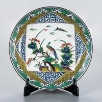 九谷焼 飾皿 12号 古久谷風花鳥 AP2-1513