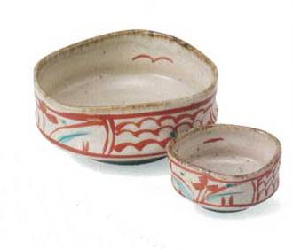 公式サイト 送料無料 美濃焼 おすすめ特集 古代赤絵 刺身鉢 猪口
