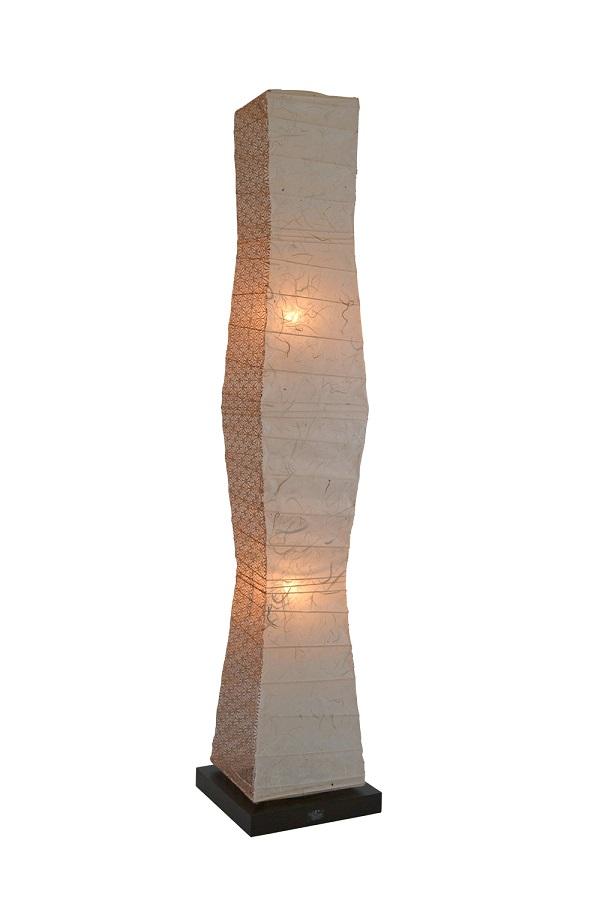 彩光デザイン FloorLamp B-150 黒雲龍×麻葉唐茶