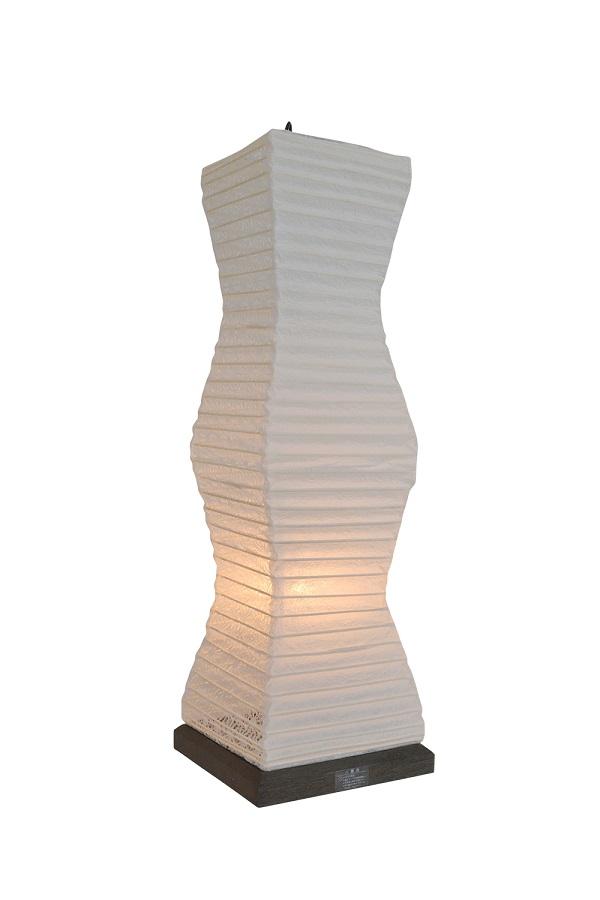 彩光デザイン TableLamp SS-3080 揉み紙×麻葉白