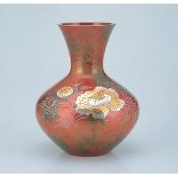 竹中銅器 富士形 牡丹 78-07