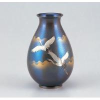 竹中銅器 福ダルマ 双鶴 80-07
