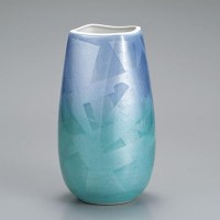 九谷焼 花瓶 9号 銀彩 AP2-1347
