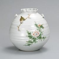 九谷焼 花瓶 7号 花鳥 中村陶志人 AP2-1371